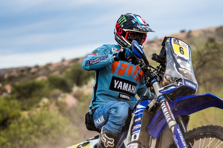 Adrien Van Beveren at the 2017 Dakar Rally