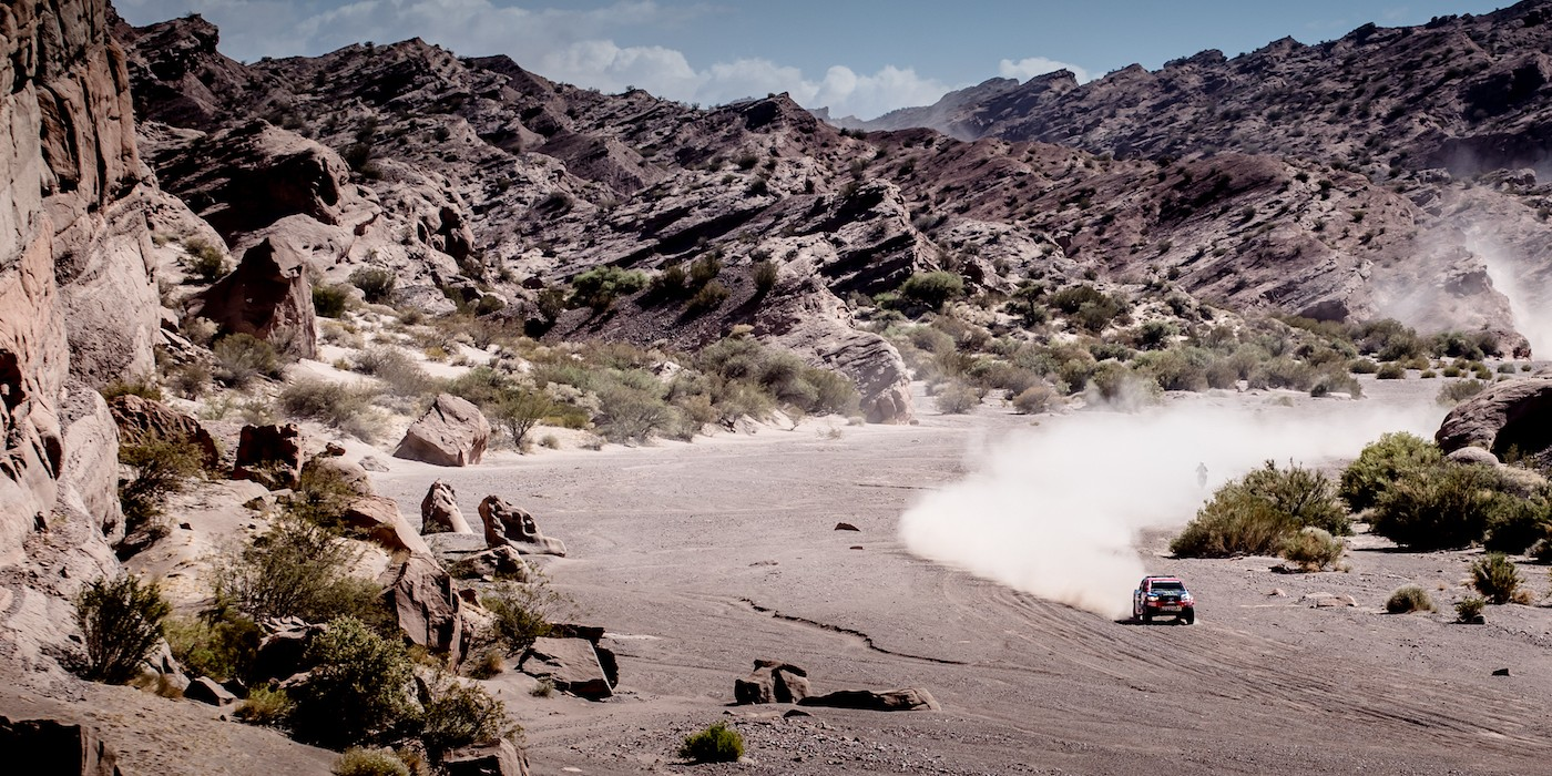 Images of Nani Roma in action on the 2017 Dakar Rally