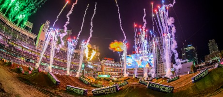 Track images at stop 2 of the 2017 Supercross season in San Diego, CA