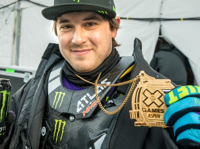 Joe Parsons competing in the 2017 Winter X Games