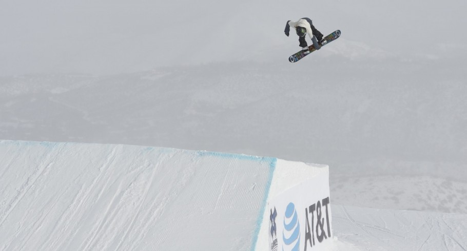 Monster athlete practicing for the 2017 Winter X Games in Buttermilk Mountain in Aspen, Colorado