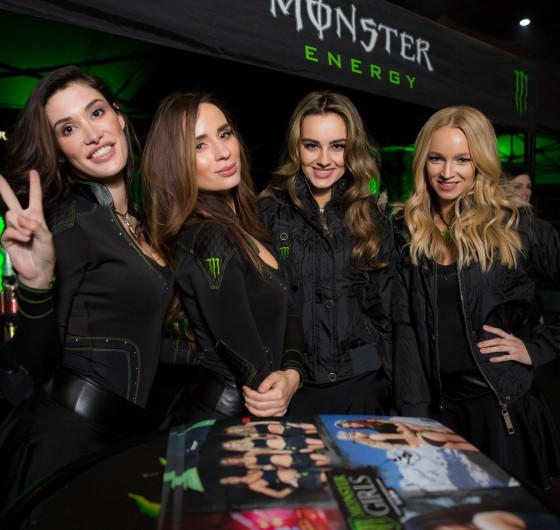 Monster  Energy Girls at the Kings of Xtreme in Leipzig.