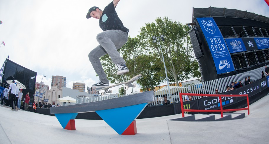 Monster athletes compete during day 1 or Amateur Day at the SLS Pro Open in Barcelona, Spain
