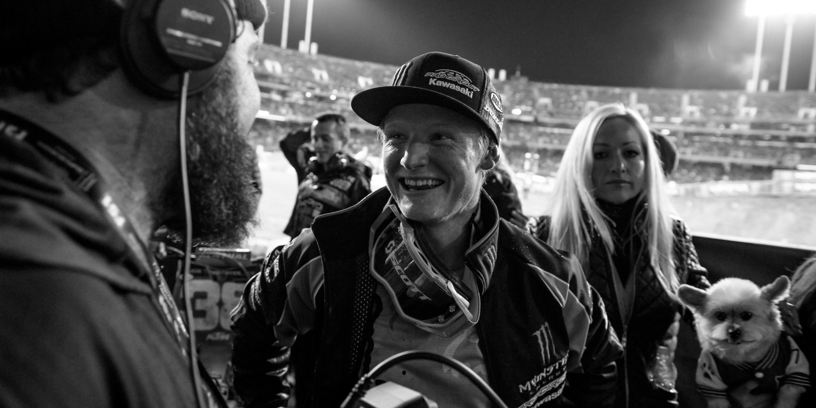 Justin Hill during stop 5 of the 2017 Supercross season in Oakland, CA