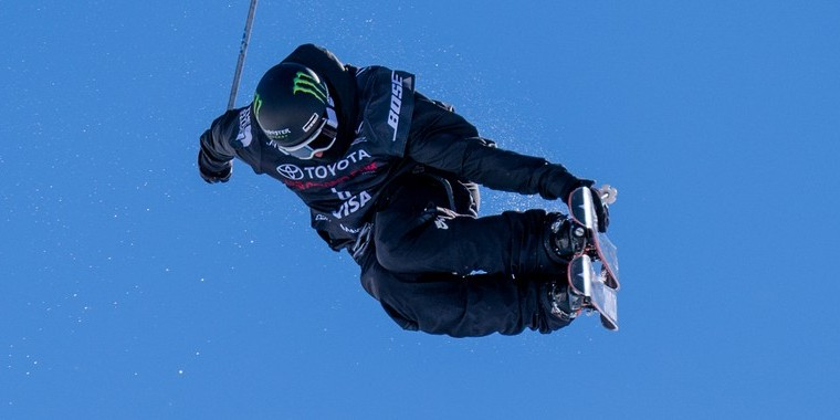Monster Athletes competing in the Mammoth Grand Prix - Ski Pipe