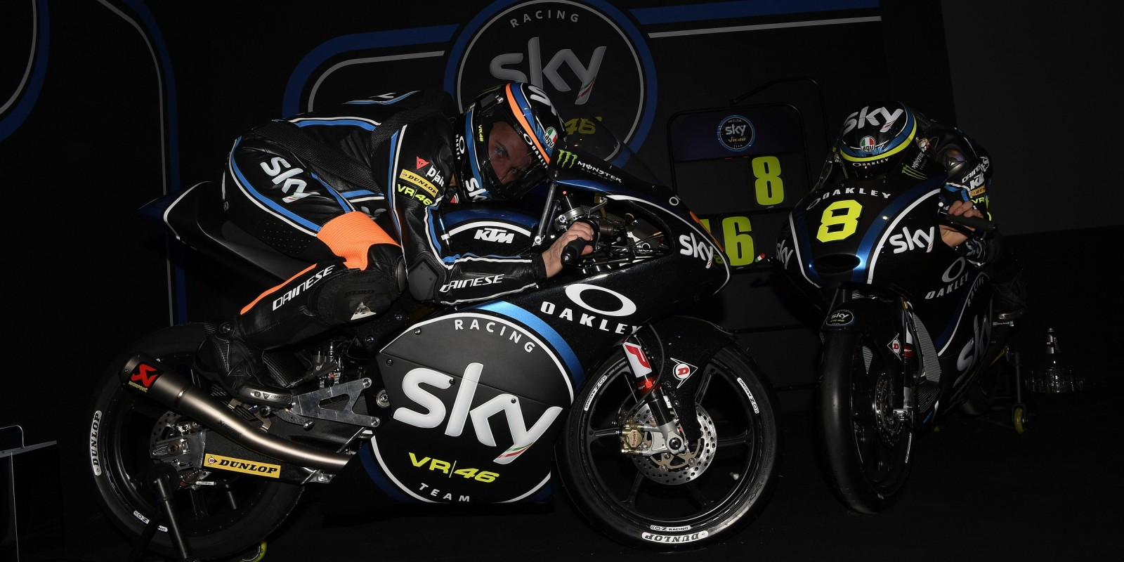 Migno at the 2017 Sky Racing Team VR46 launch in Milan