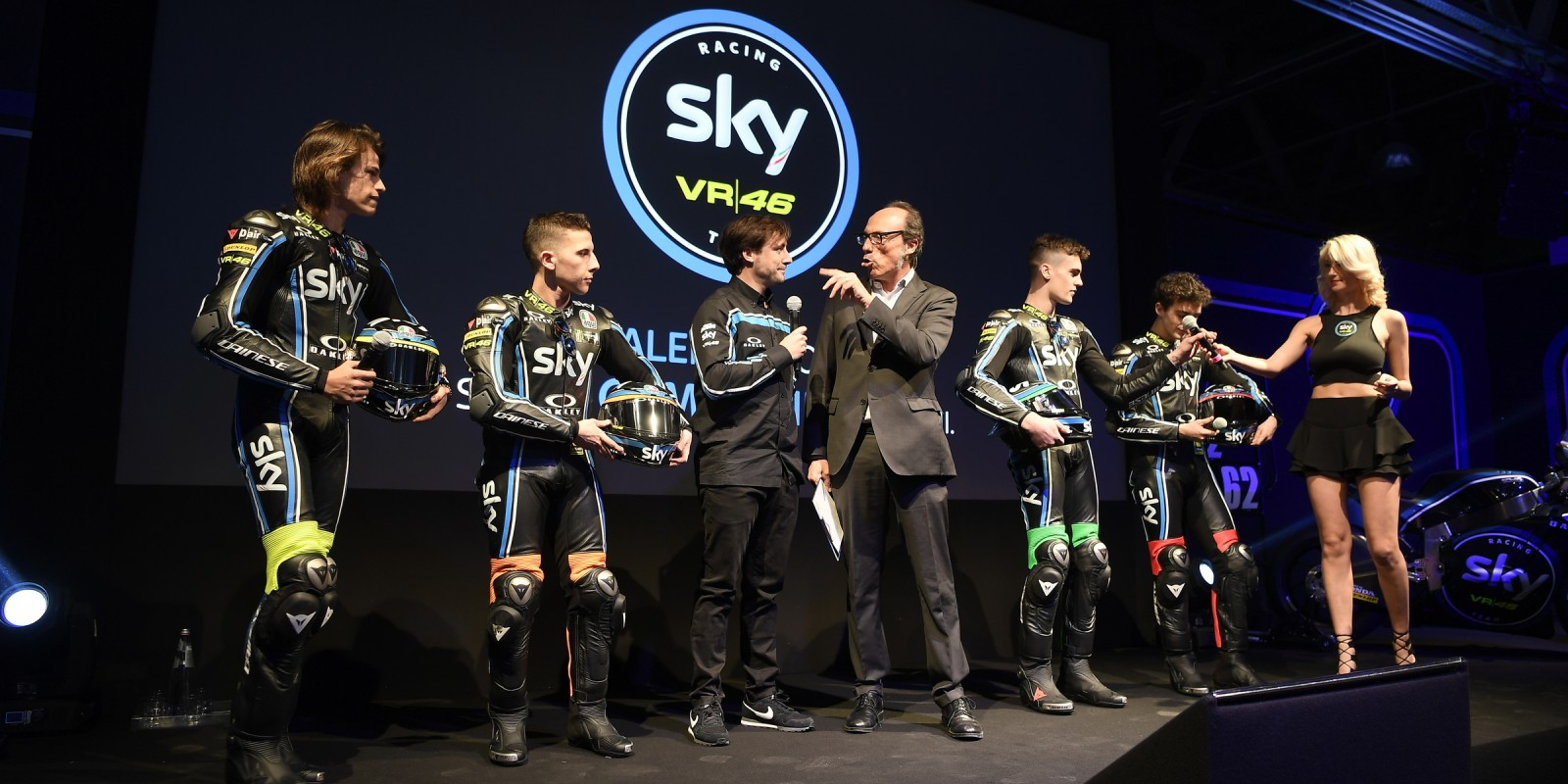 Scenes from the 2017 Sky Racing Team VR46 launch in Milan