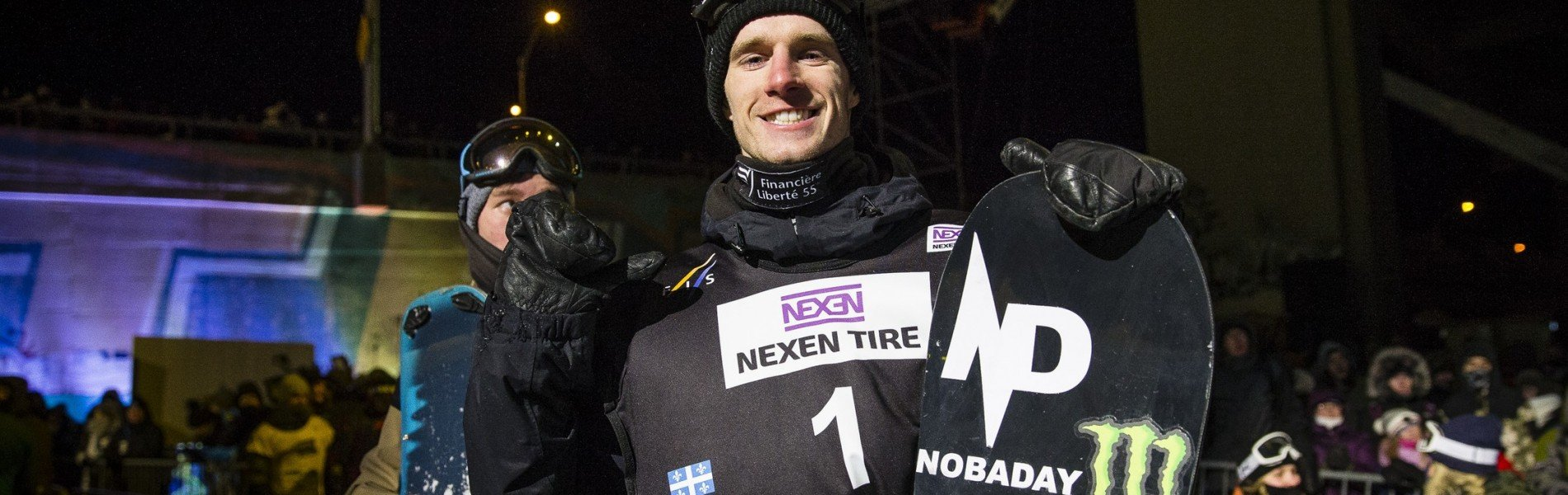 Max Parrot and Jamie Anderson compete in the FIS World Cup in Quebec City and Stoneham.