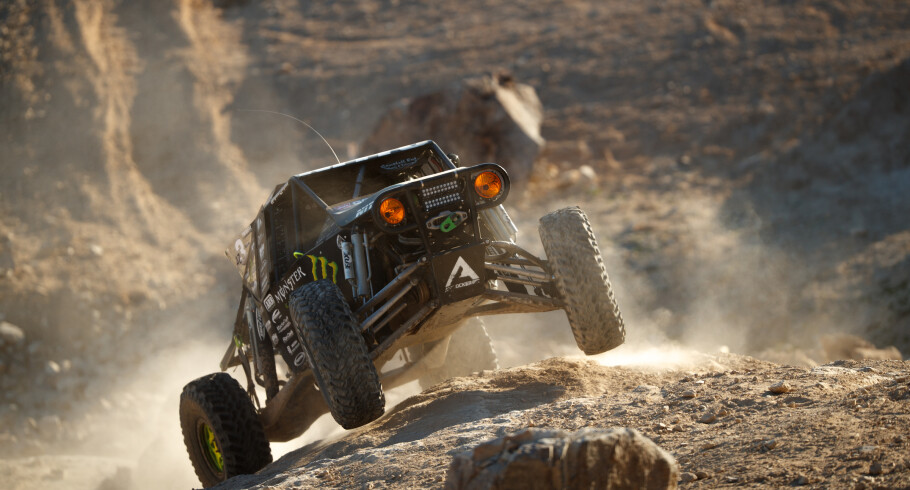 Monster athletes compete at the 2017 King of Hammers in Johnson Valley, California