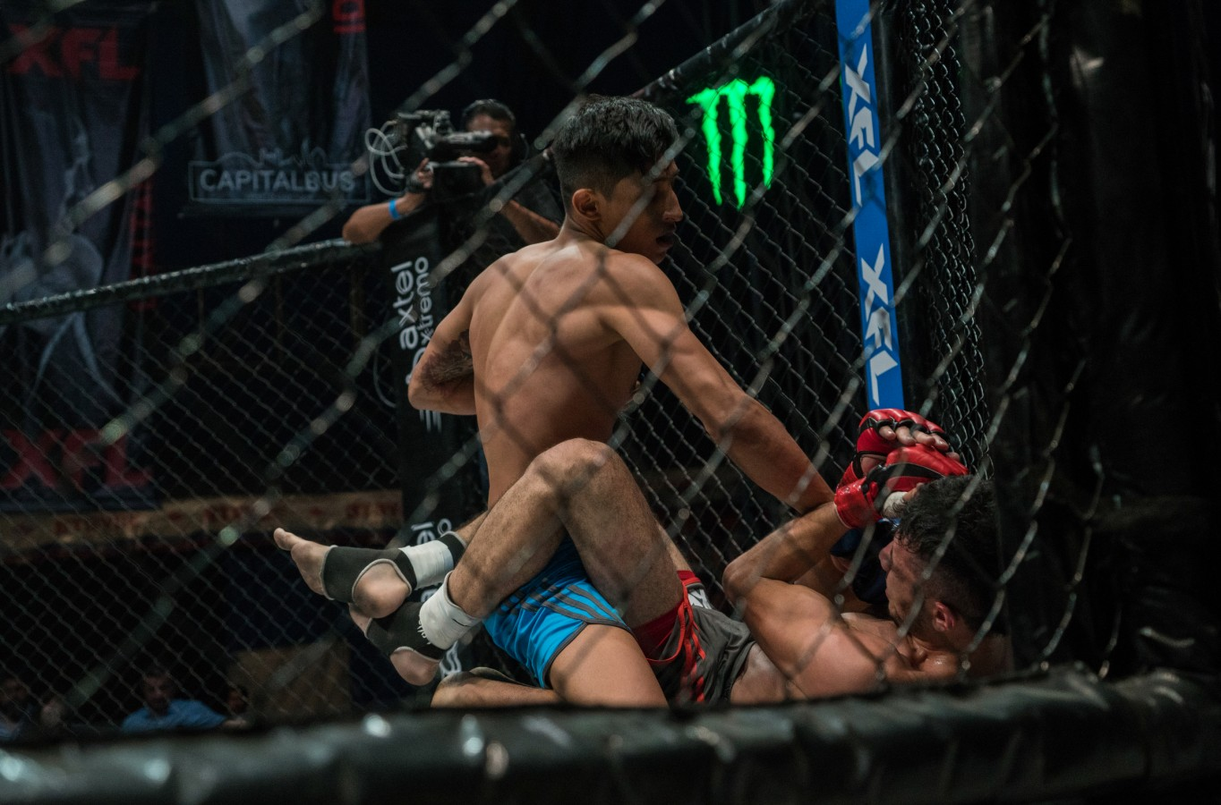 Monster Energy attendig XFL- MMA League at Mexico City