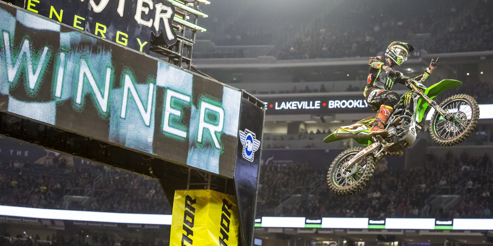 Monster athletes compete at the 7th stop at the 2017 Supercross season in Minneapolis, MN