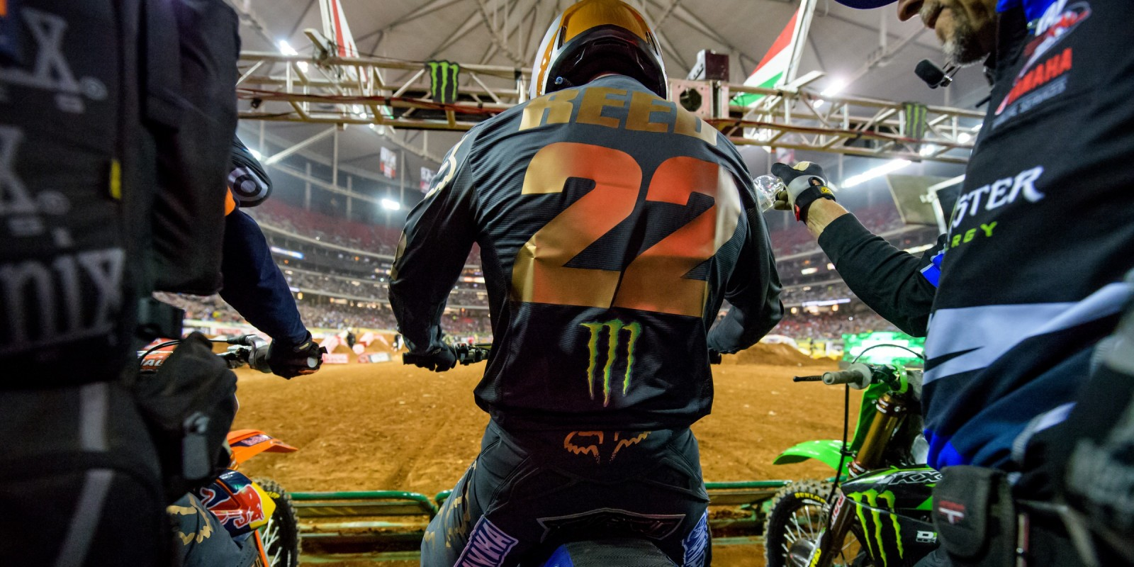 Chad Reed action images at Atlanta Supercross