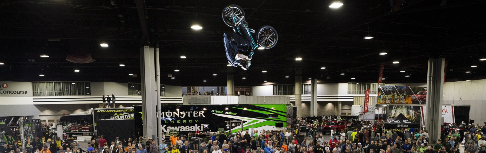 Monster athletes compete at the last BMX Triple Challenge in Atlanta, Georgia