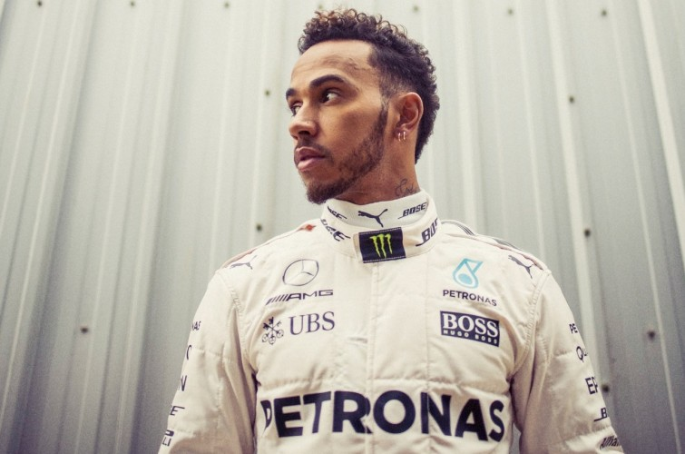 Lewis Hamilton during the first official pre-season F1 test of 2017