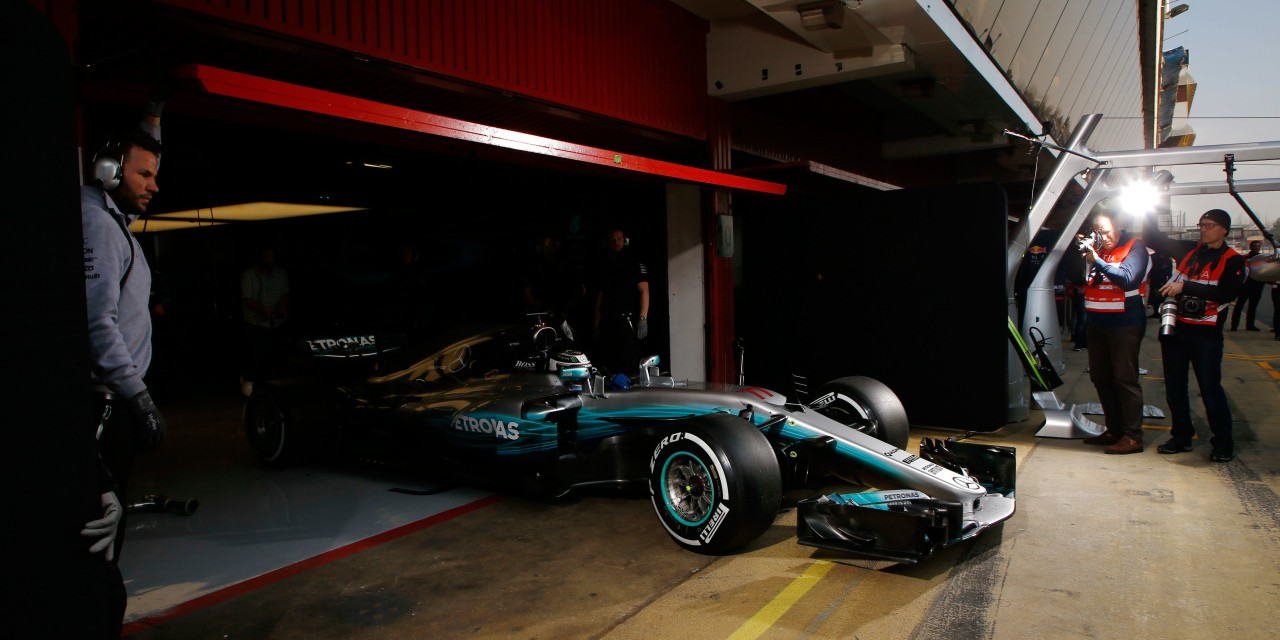 Images from Day one of the first official F1 test of 2017 - held in Barcelona, Spain.