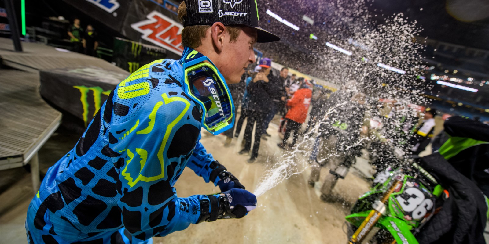 Cianciarulo action shots at the 2017 Supercross championship in Toronto