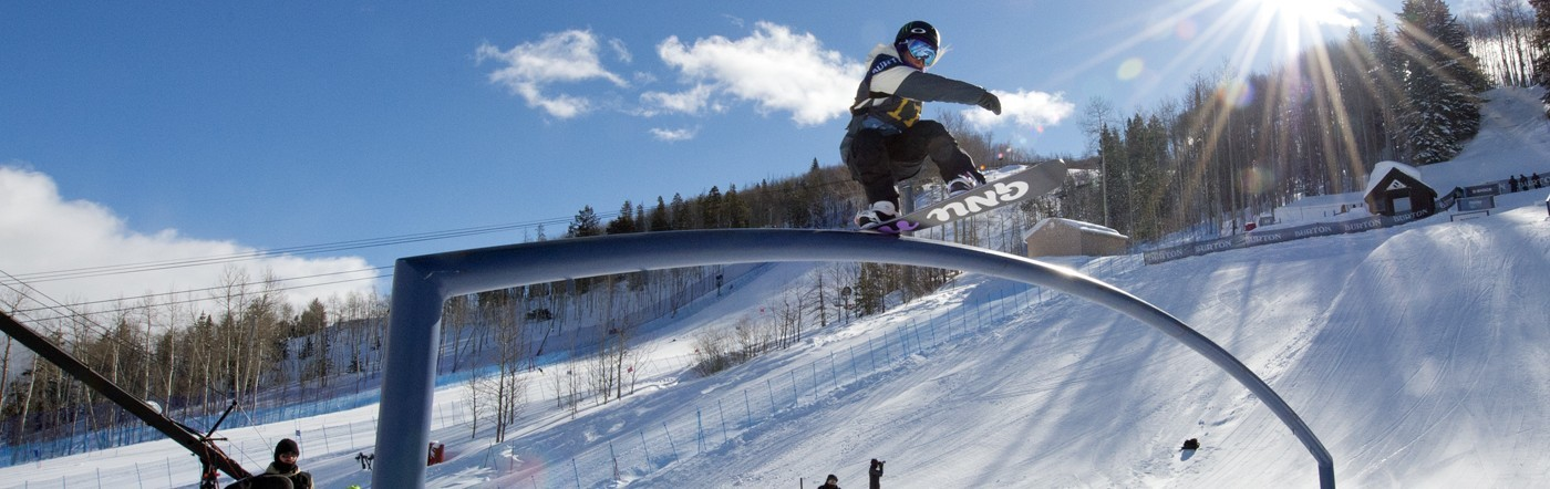 Jamie Anderson qualified #1 in slope at the US OPEN in Vail, CO