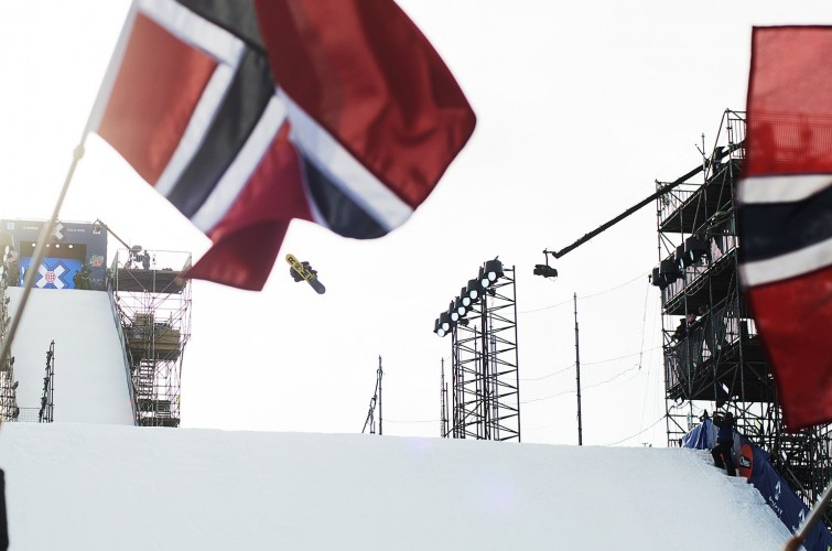 Ståle Sandbech competes in Winter X Games Oslo