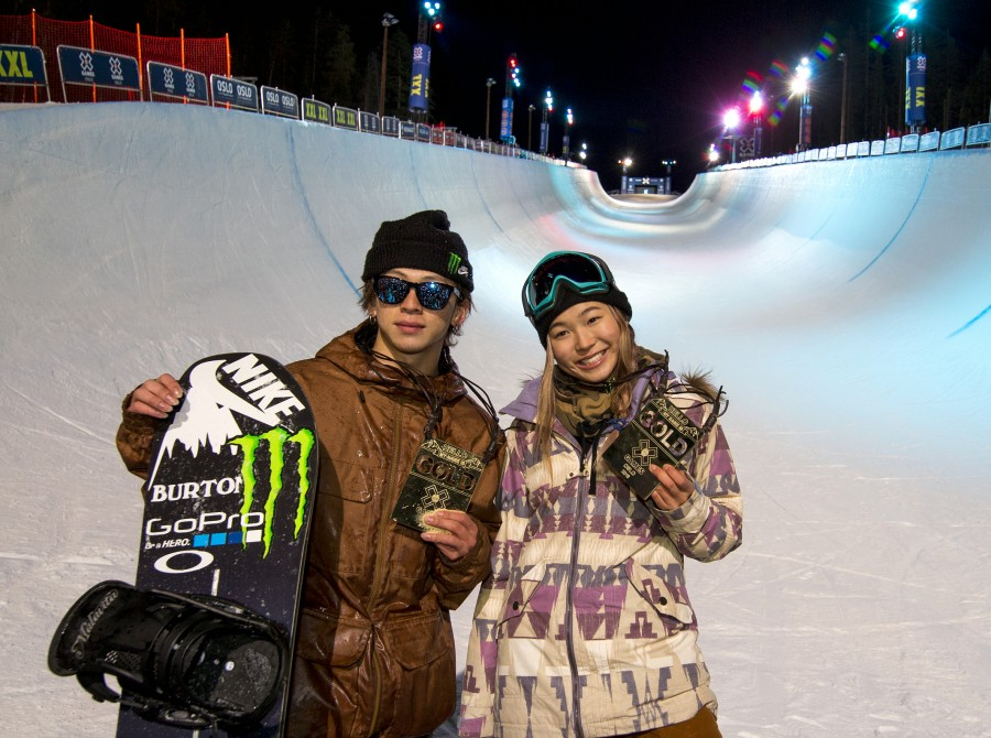 Chloe Kim competes in the 2016 Winter X Game Oslo
