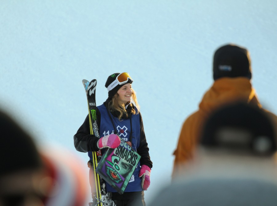 Emma Dahlstrom competes in the 2016 Winter X Games in Oslo.