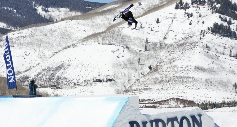 Jamie Anderson placed second in the Women's Slopestyle at the US OPEN in Vail, CO