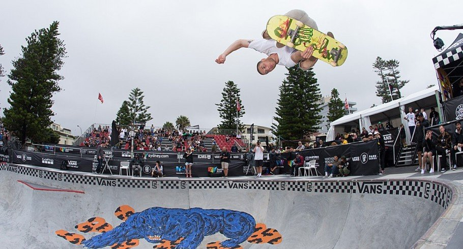 Tom Schaar placed 4th at the first stop of the Vans Park Series in Sydney, Australia