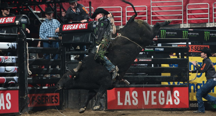 Chase Outlaw in the opening during the first round of the Anaheim Built Ford Tough series PBR