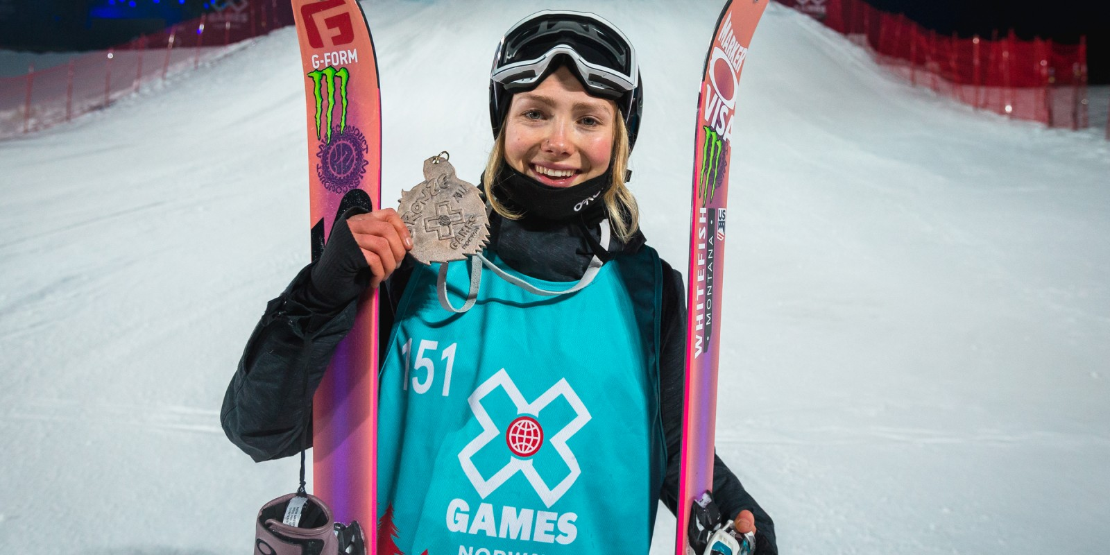 Action shots of Maggie Voisin at Norway's X Games