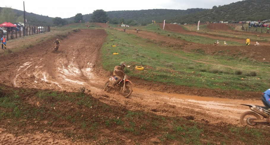 Photos of ME MX rider Panagiotis Kouzis from the 2nd race of the National Championship