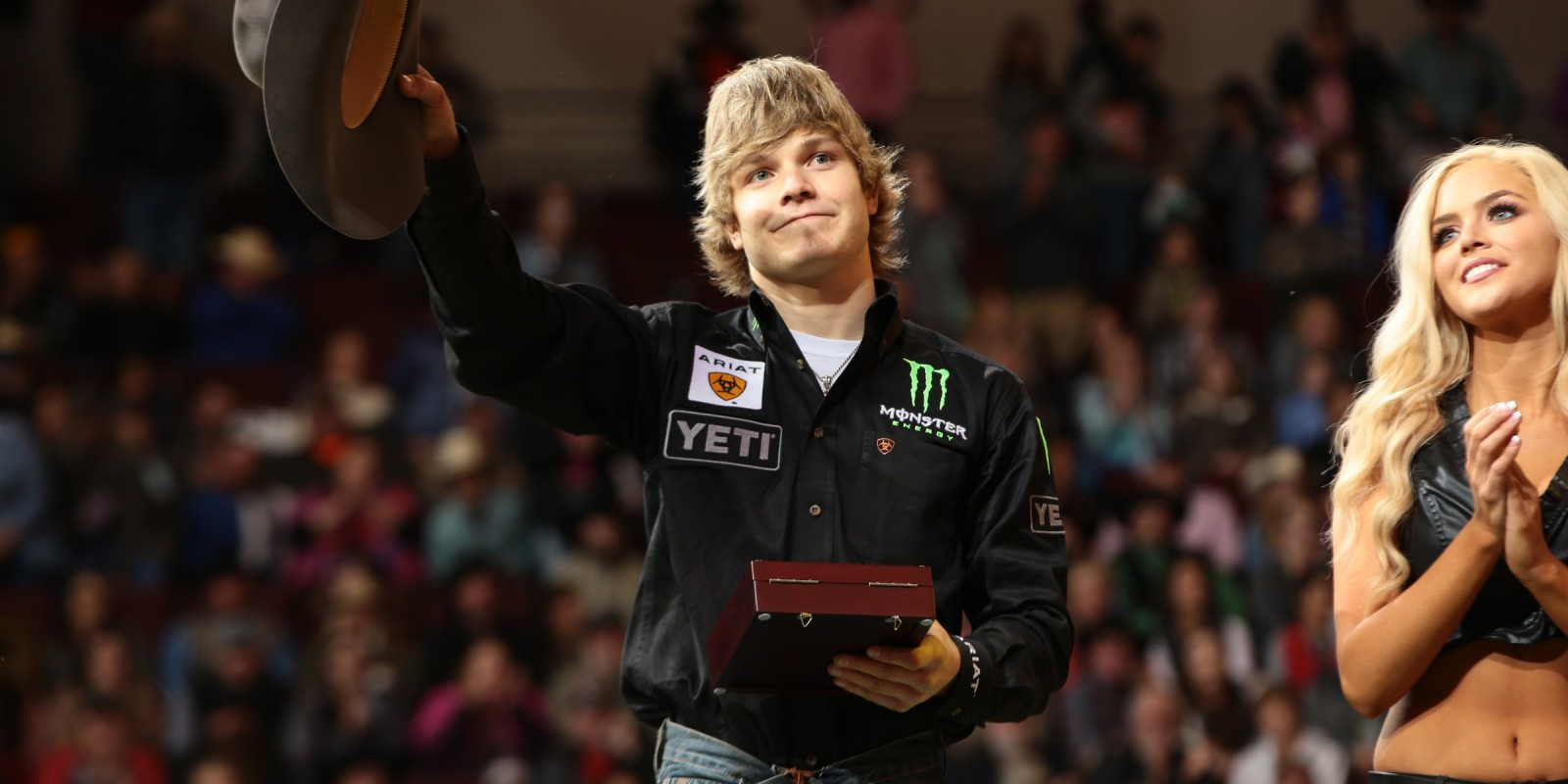 Derek Kolbaba wins the Little Rock Built Ford Tough series PBR