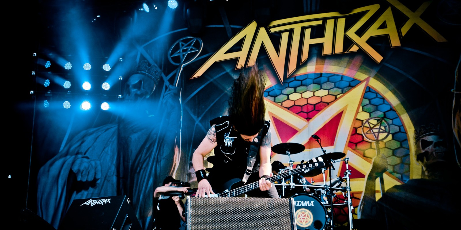 Live performance and meet and greet session photography of Anthrax at 2016 Carolina Rebellion Festival