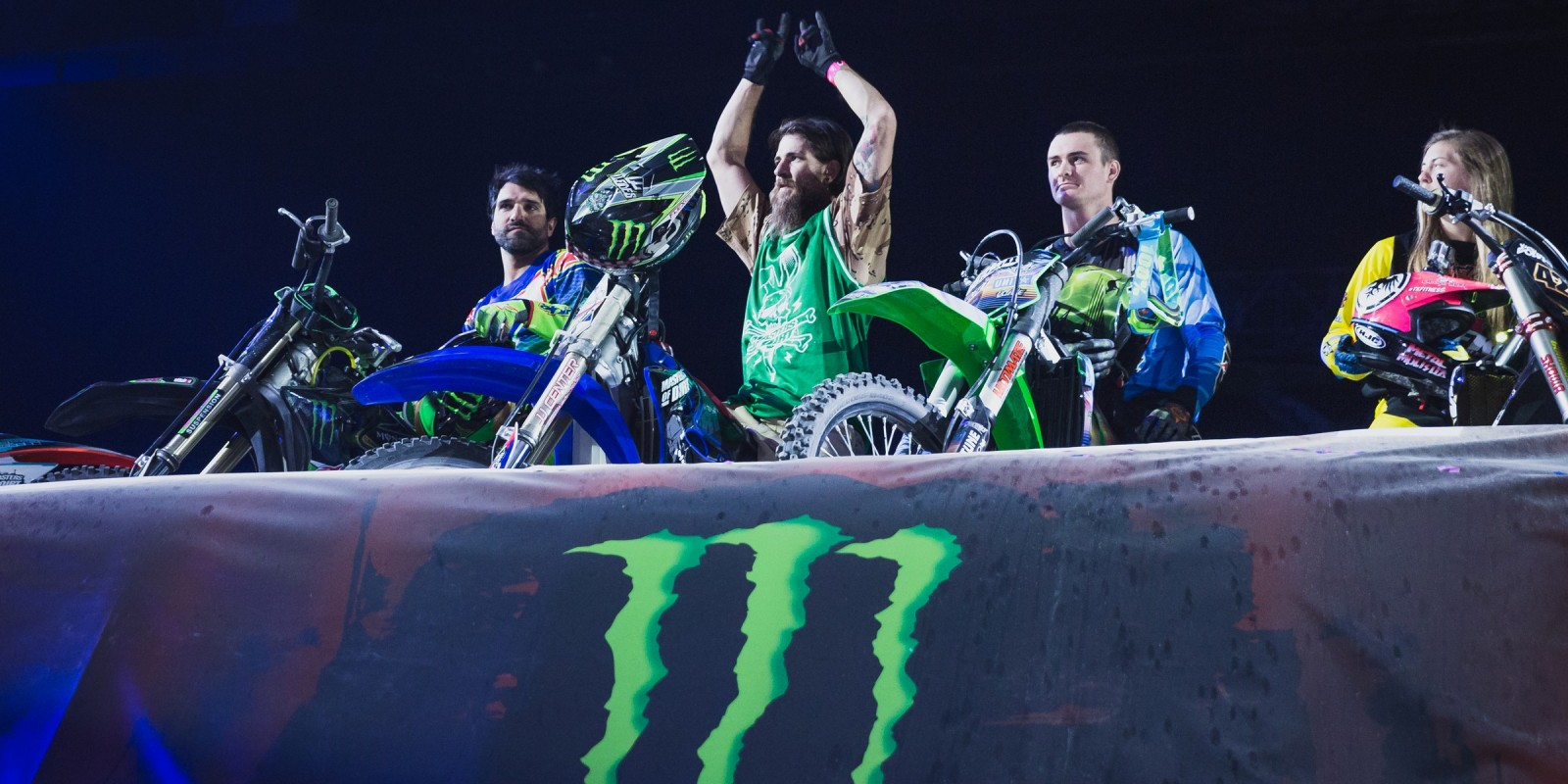 Alastair Sayer and Edgar Torronteras at the Masters of Dirt in Vienna.