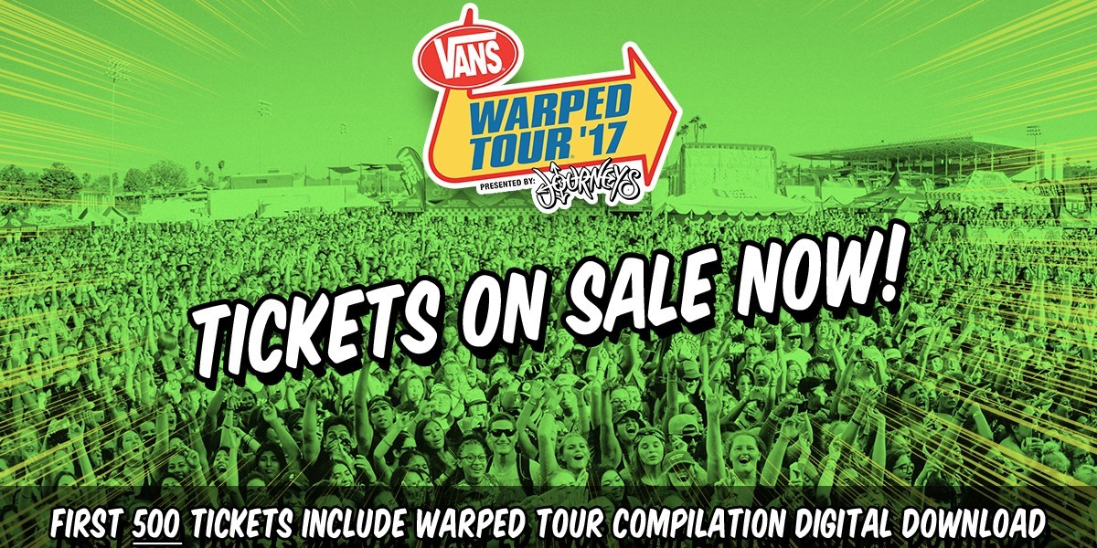 vans warped tour announcement graphic for tickets on sale