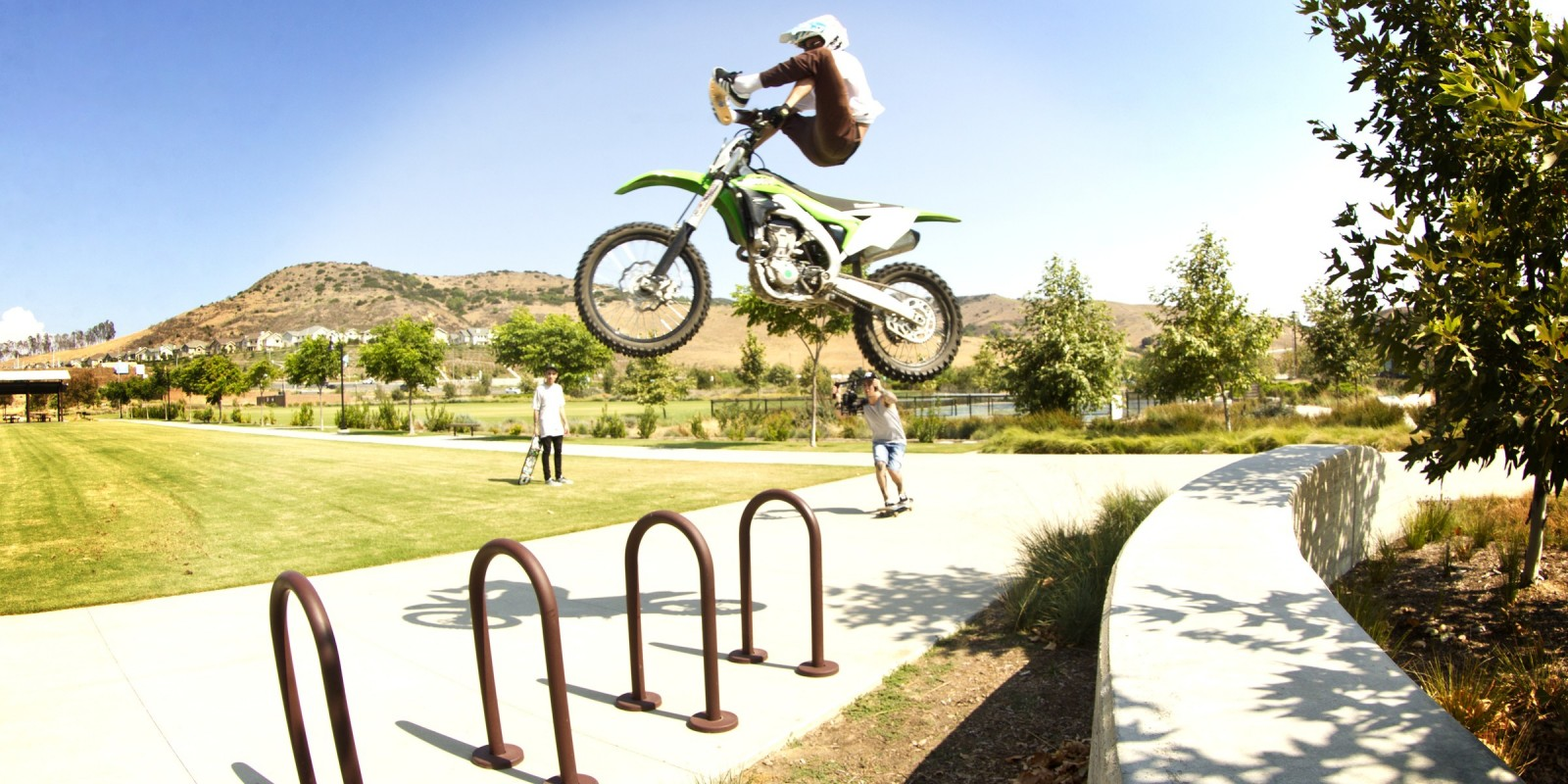 Just another day in paradise for Nyjah Huston