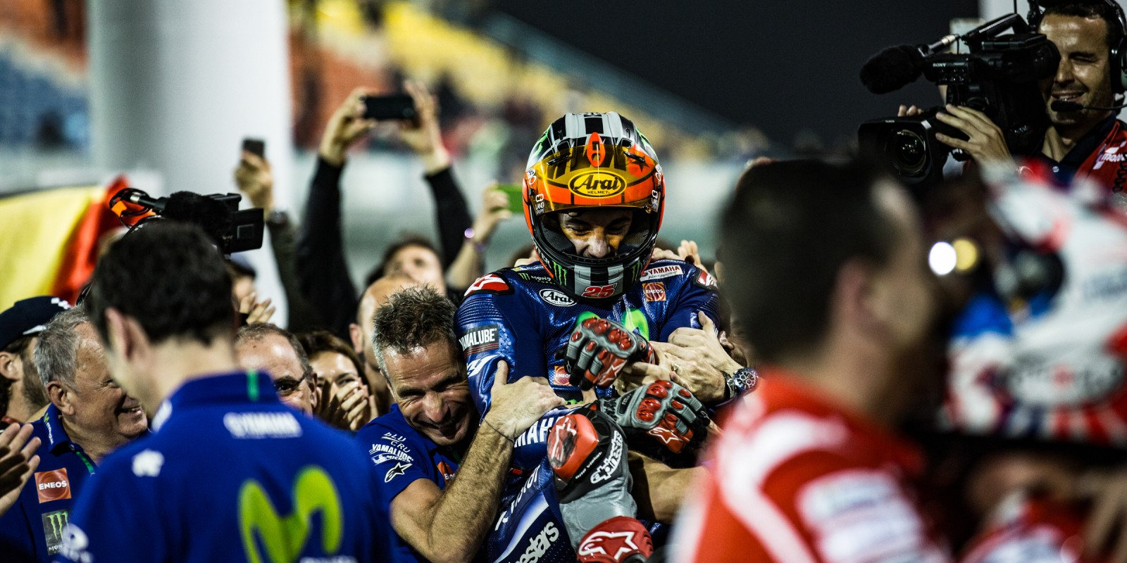 Maverick Viñales at the 2017 Grand Prix of Qatar