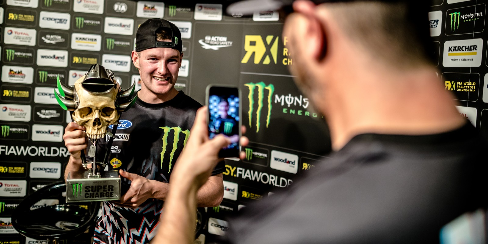 Press conference at World RX Barcelona.