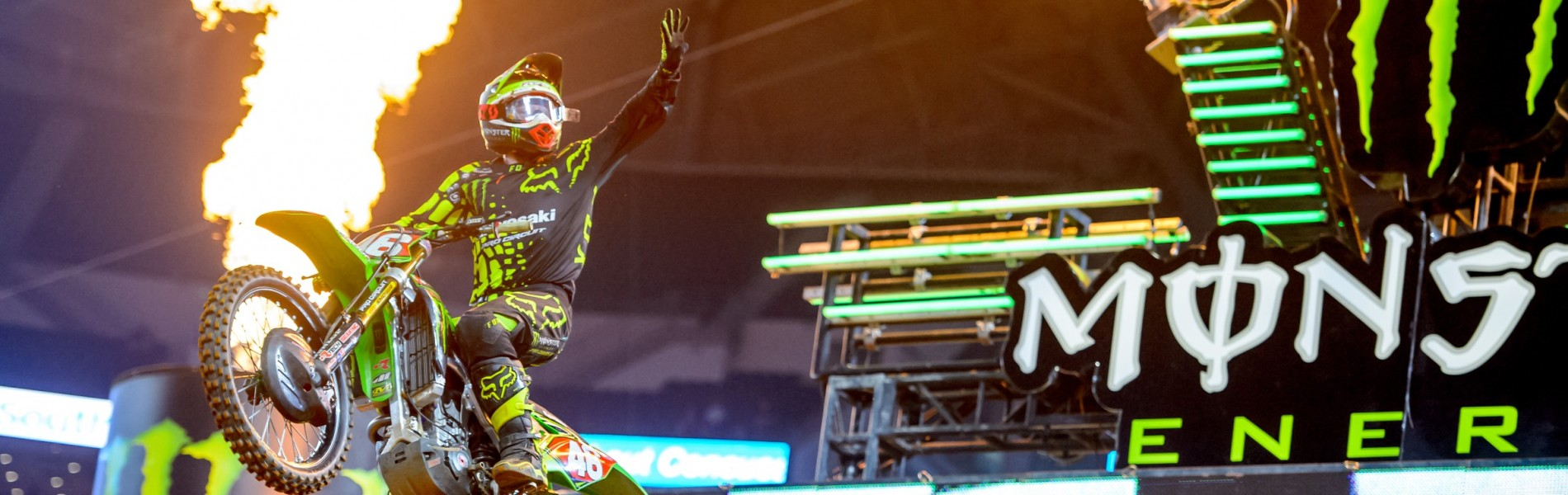 Monster at the 2017 Supercross in Arlington, Texas