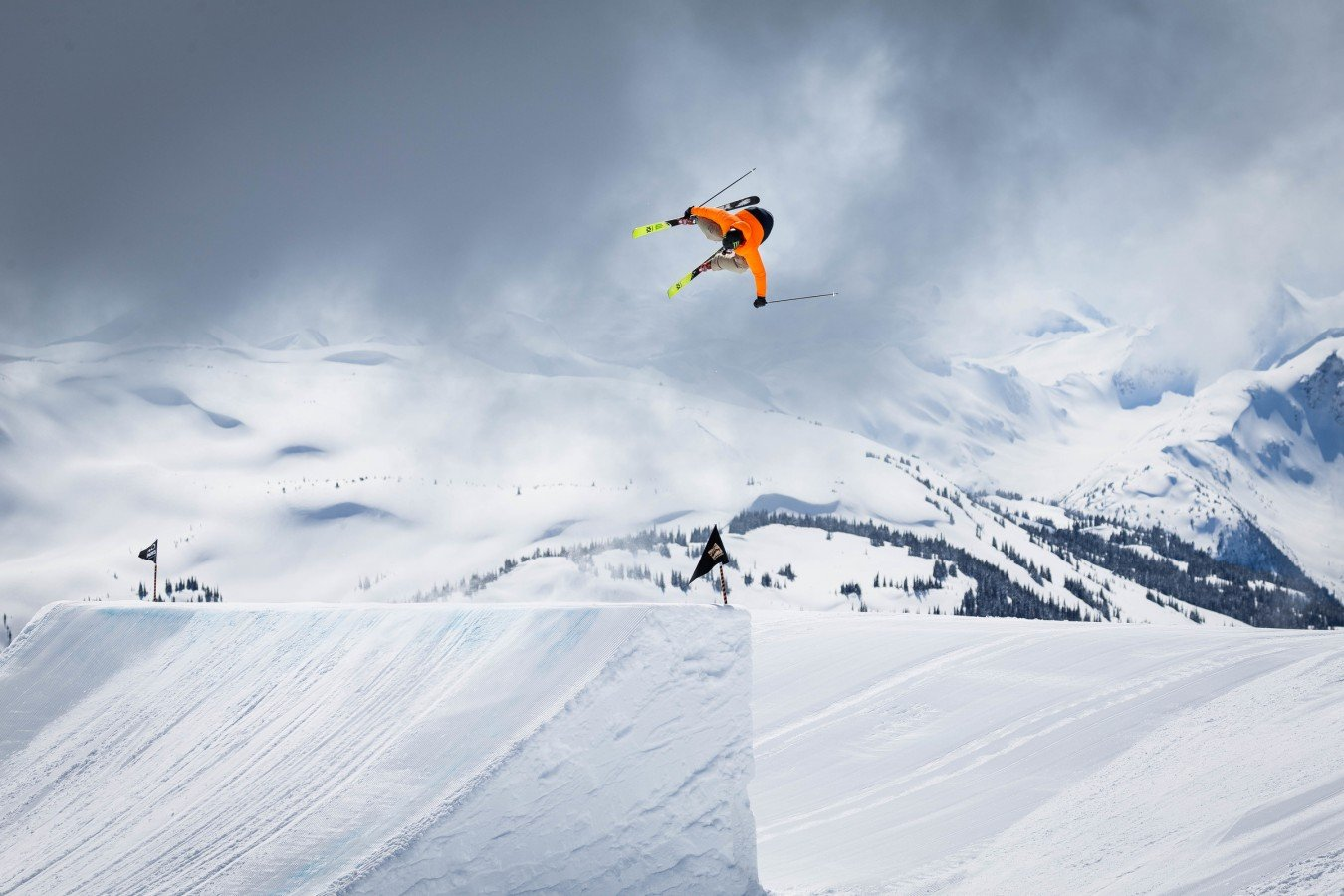 Alex Beaulieu-Marchand trains with the rest of the Canada Ski & Snowboard team in Whistler, BC on seventh Heaven.