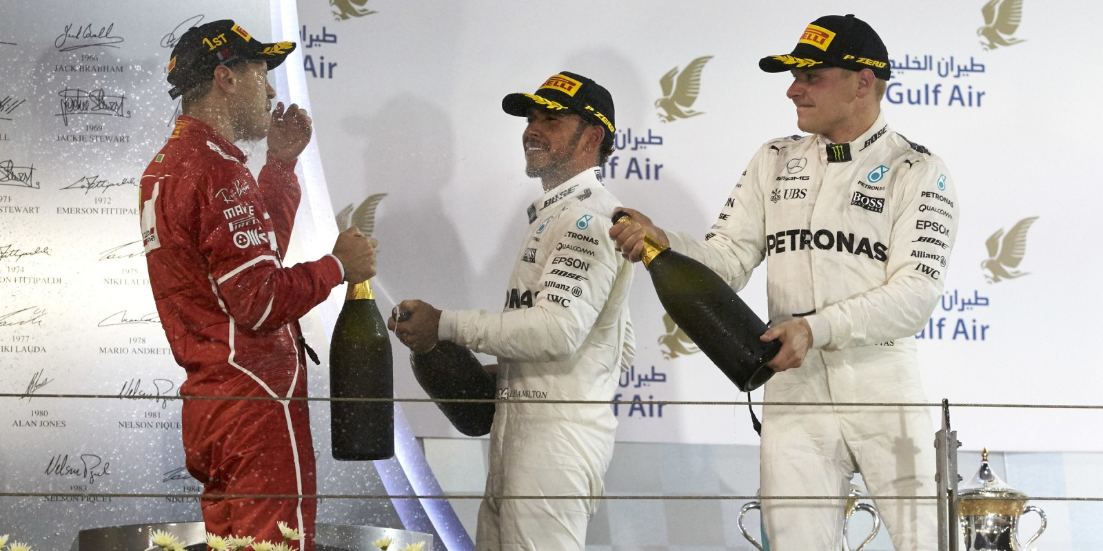 Sunday images from the 2017 Bahrain Grand Prix