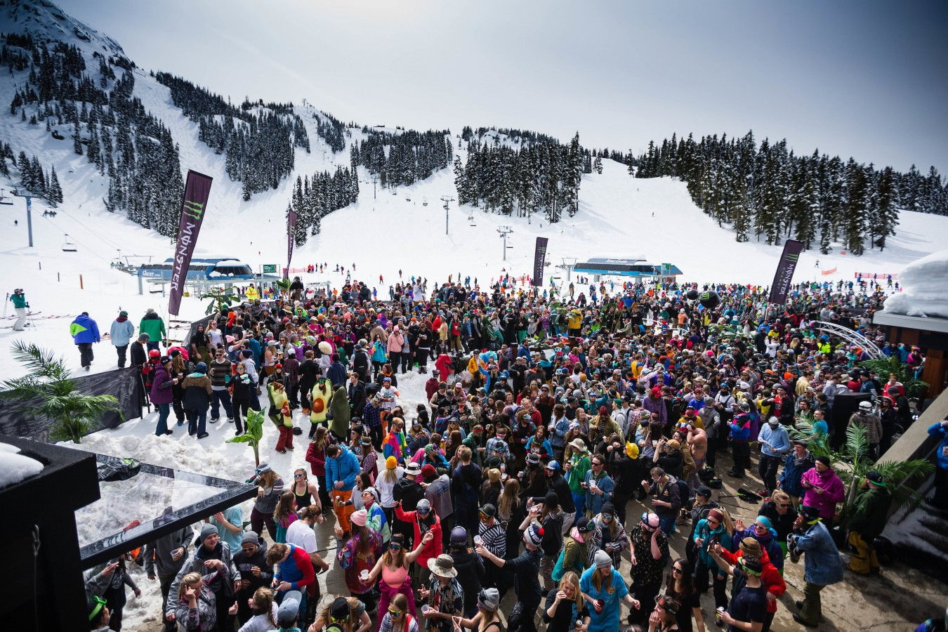 Epic Monster Energy World Ski & Snowboard Festival after party shots at Glacier Creek Lodge, Whistler, BC