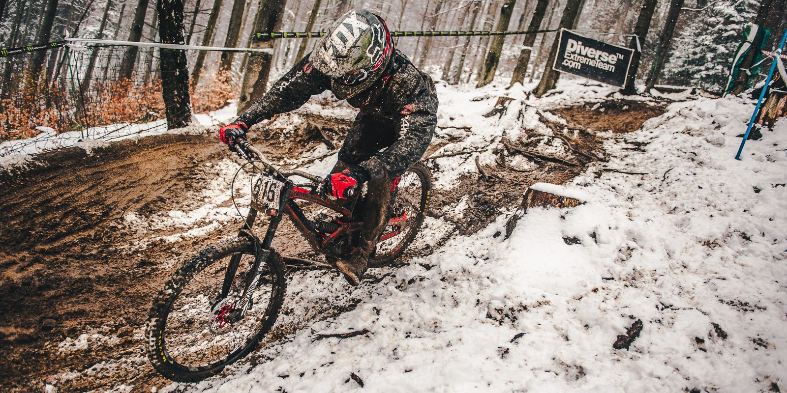 Diverse Downhill Contest 2017 Round 1 held in Wisła, Poland - action picture from final runs