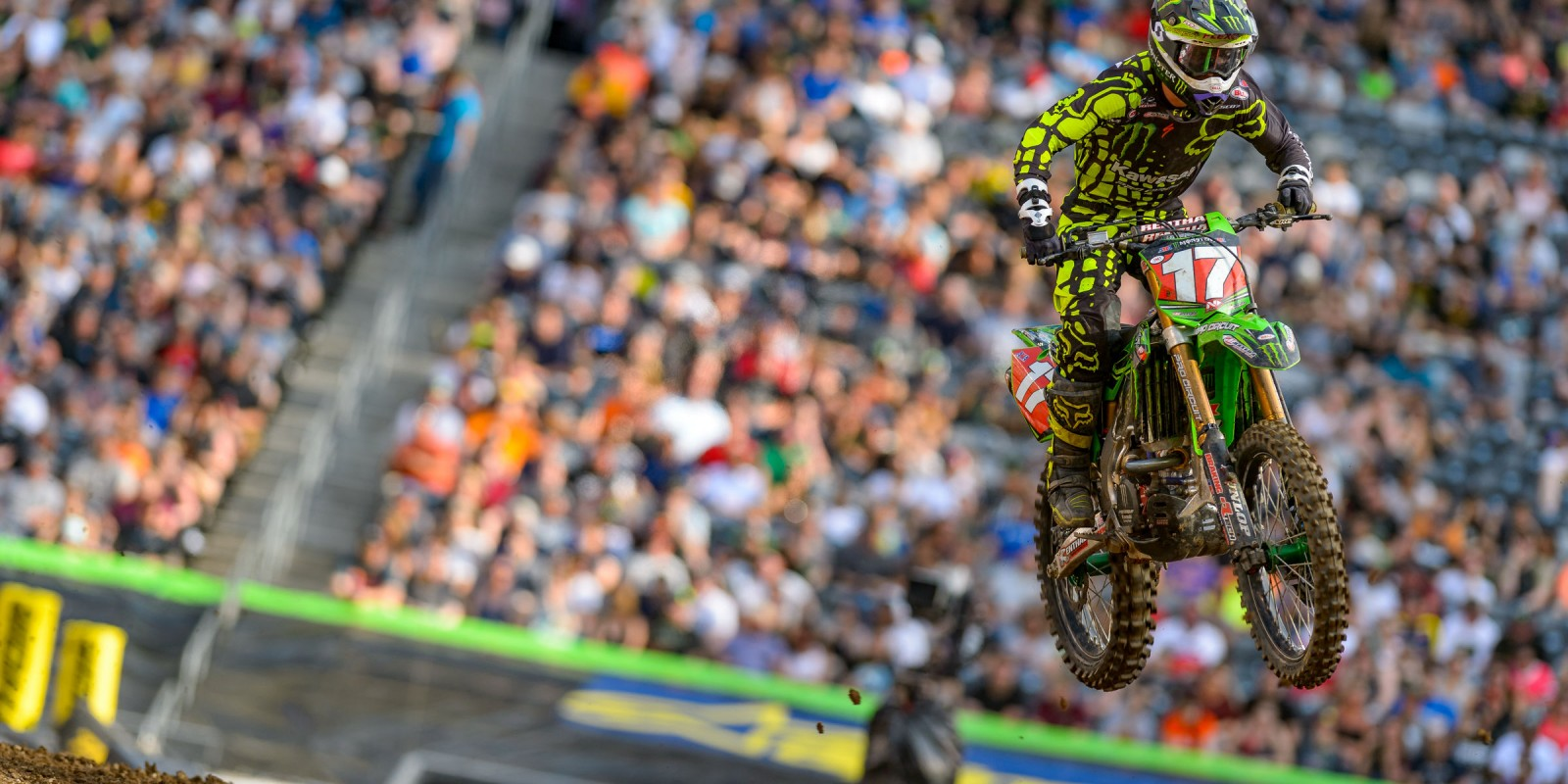 Monster athletes compete in the 2017 Supercross stop in East Rutherford, New Jersey
