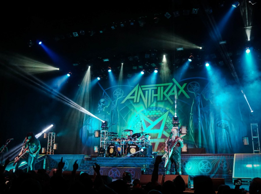 live photos of Anthrax performing at the Wiltern Theatre in LA on the Killthrax tour 2017