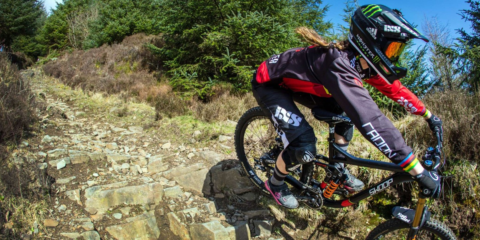Manon's Diaries / Photo shoot at the DH track at the Rheola forest in Wales.