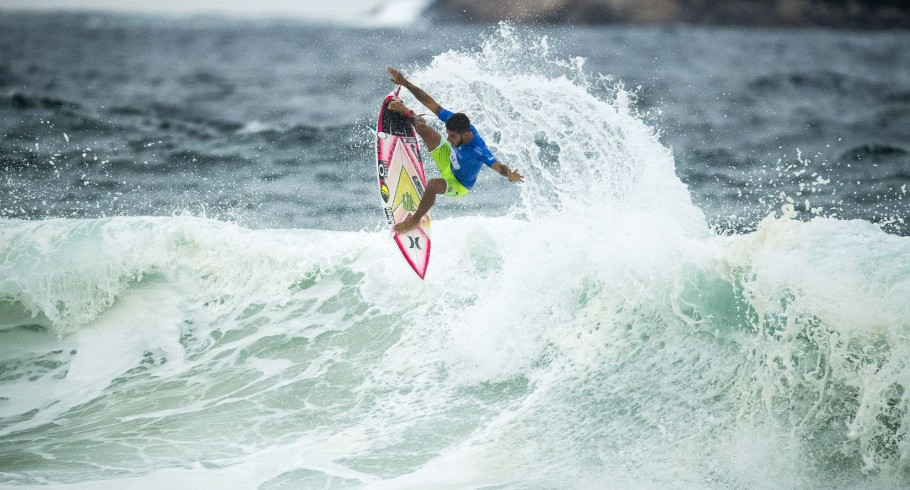 Monster athletes compete in the 2017 This Way In, Oi Rio Pro in Saquarema, Rio de Janeiro, Brazil