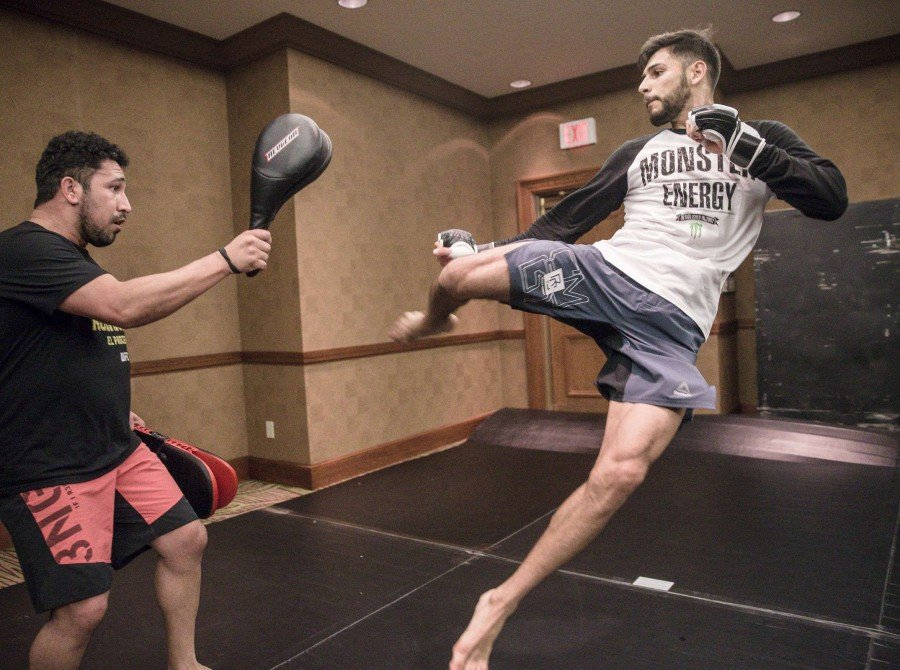 MMA Fighter Yair Rodriguez getting ready for UFC 211