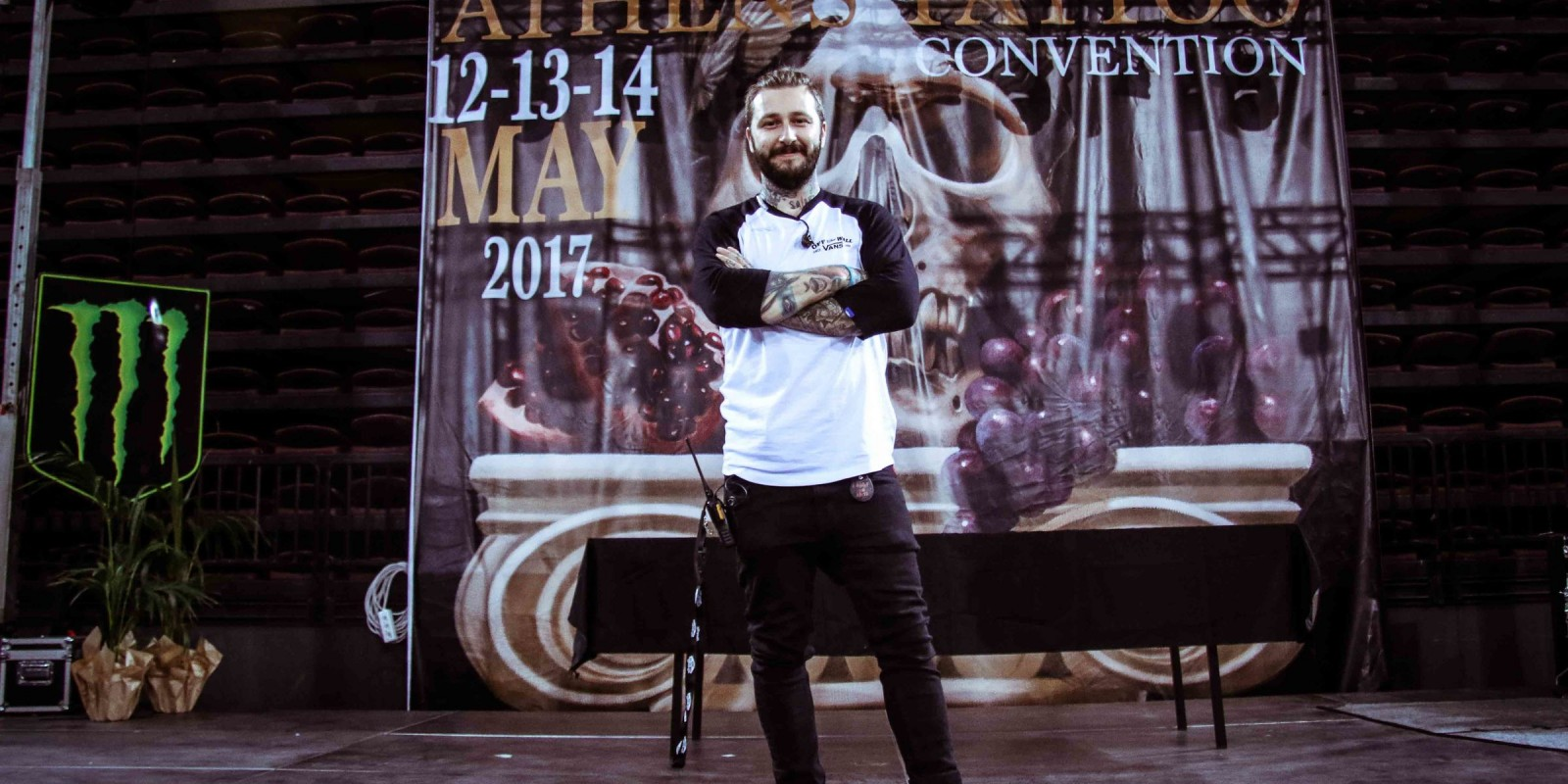 Photos from 11th Athens International Tattoo Convention fuelled by Monster Energy. organiser of the convention, image for interview.