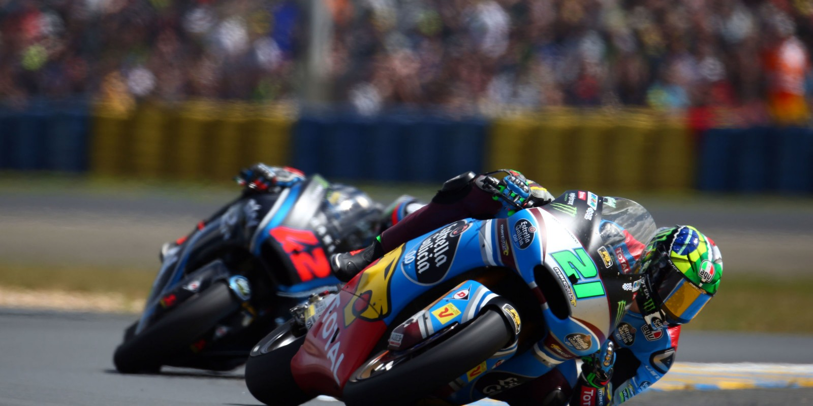 Monster athletes compete in Race 1 Sunday at the 2017 Le Mans MotoGP stop