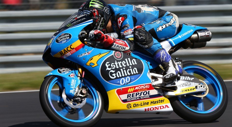 Monster athletes compete in race 2 at the Le Mans MotoGP stop
