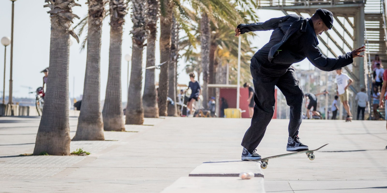 Lifestyle shots at Barcelona with Gabriel Fortunato
